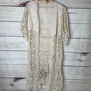 DO EVERYTHING IN LOVE Lace Bathing Suit Coverup